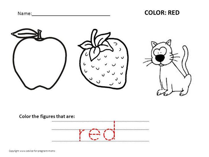 7 best Color Worksheets images on Pinterest   Preschool ...