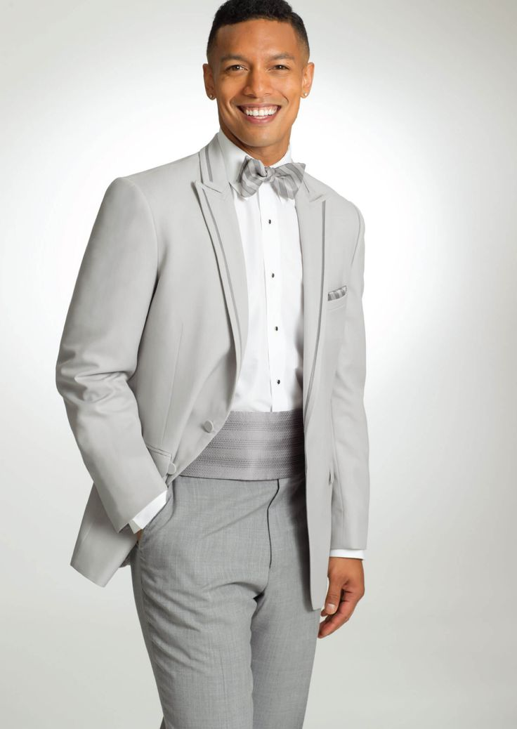 Cement Ridgeland Two Button Peak by Allure-Men - Tuxedos