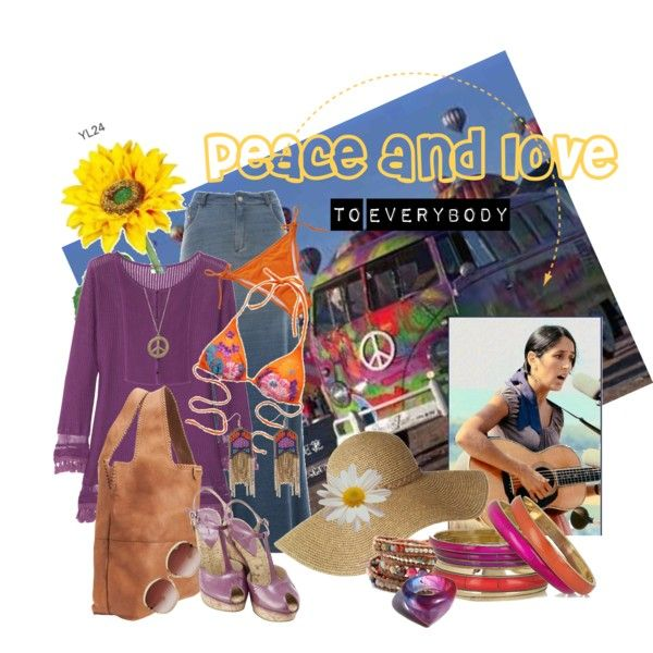Peace and Love, created by dea-afrodite on Polyvore
