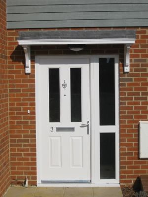 17 best ideas about door canopy on pinterest front door for Front porch roof kits