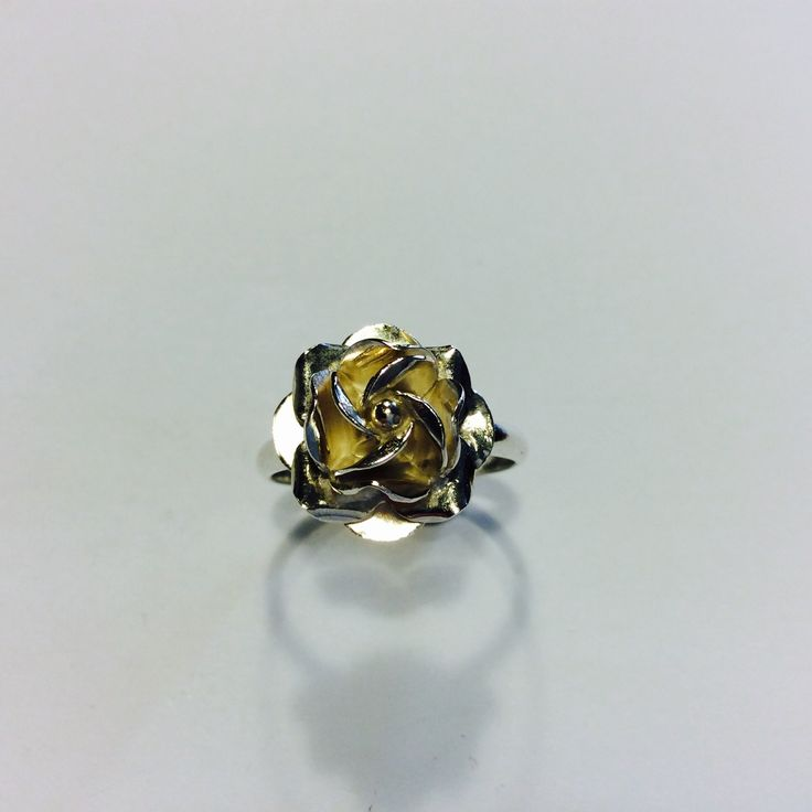 Sterling Silver Rose Ring - Size W