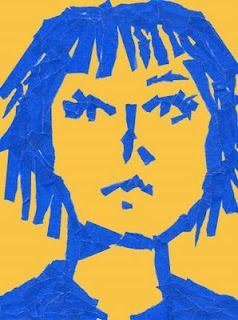Art Projects for Kids: Masking Tape Portrait | http://www.artprojectsforkids.org/2012/06/masking-tape-portrait.html#