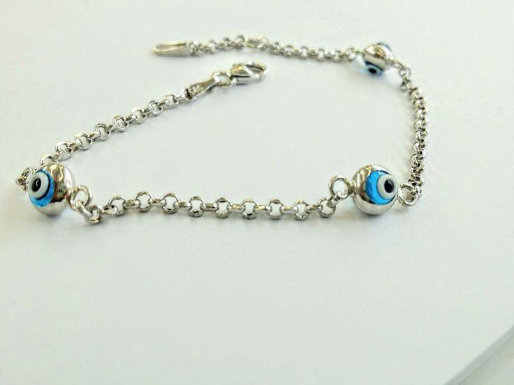#thelittleshopathens#whitegoldevileyebracelet#evileyes#greekgoldjewelry#bracelet #etsy #jewelry #white #evileye #blue #whitegold #eyebracelet #whitegoldeyes #elegant http://etsy.me/2j0gETQ