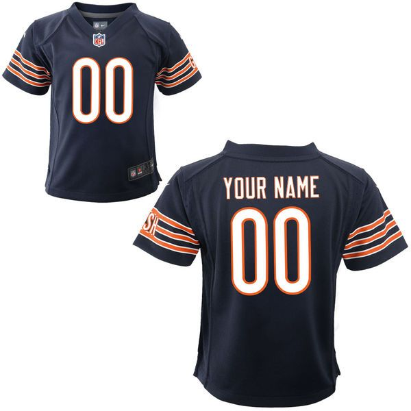 Nike Toddler Chicago Bears Customized Team Color Game Jersey - $74.99