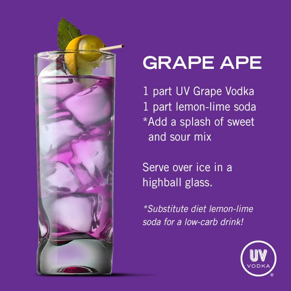 UV+Vodka+Recipe:+Grape+Ape