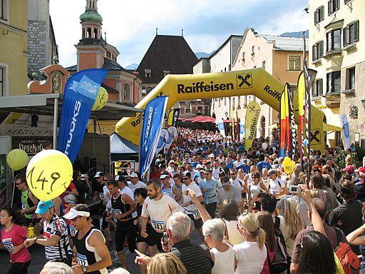 Zahlreiche Laufveranstaltungen in und rund um Hall in Tirol | Fotograf: Stadtmarketing Hall in Tirol | Credit:Stadtmarketing Hall in Tirol | Mehr Informationen und Bilddownload in voller Auflösung: http://www.ots.at/presseaussendung/OBS_20130304_OBS0012