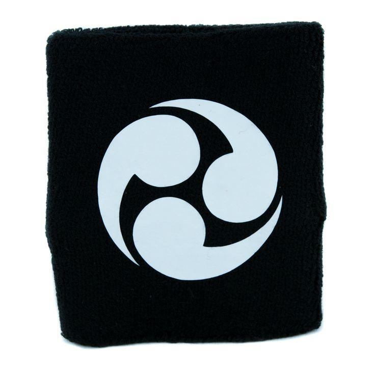 Hidari Mitsu Domoe Wristband Sweatband Anime Clothing Japanese Clan Symbol