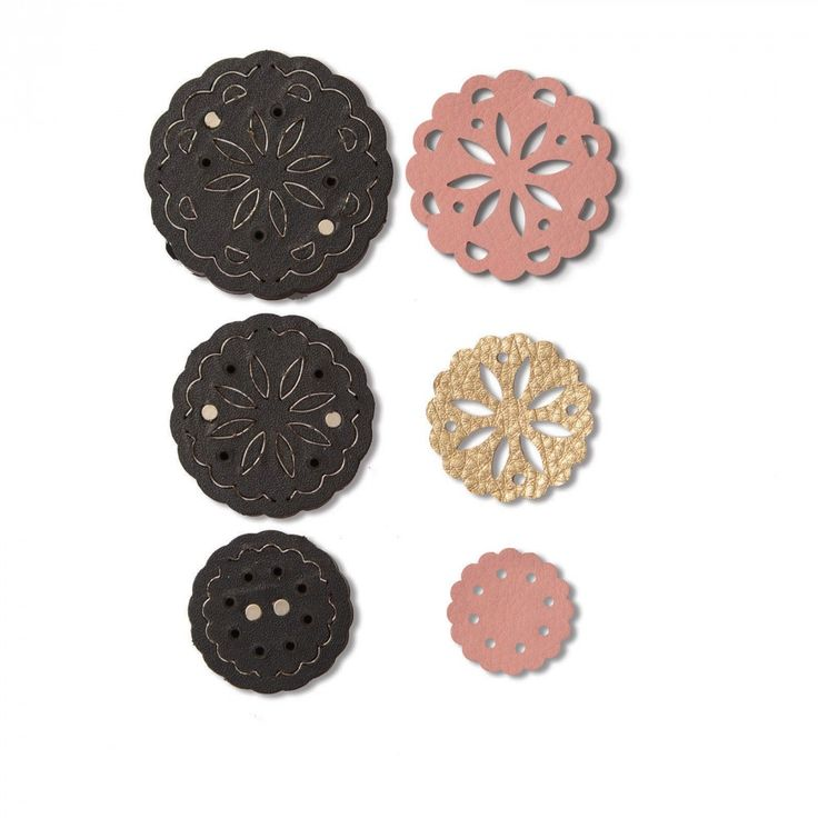 Sizzix - Leather Jewelry Collection - Movers and Shapers Die - Flower Concho at Scrapbook.com