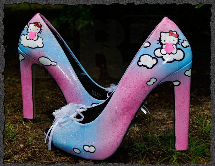 Hello Kitty pumps | Artbrake ★ Hello Kitty High Heels Damen Schuhe Pumps 36 37 38 39 ...