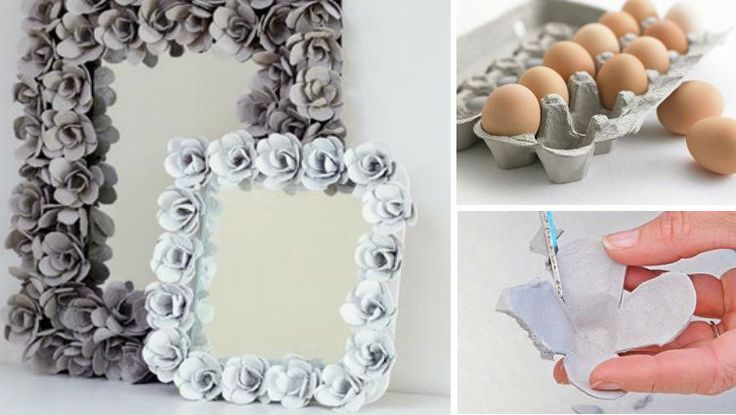 How to make a decorative mirror out of egg cartons