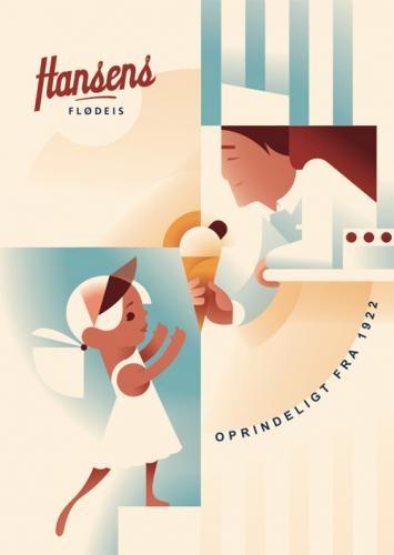 Ice Cream Ad from 1922 - Denmark