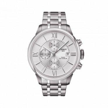 T0994271103800 Ανδρικό ελβετικό αυτόματο ρολόι TISSOT CHEMIN DES TOURELLES με χρονογράφο, μπρασελέ, ασημί καντράν | Ρολόγια ΤΣΑΛΔΑΡΗΣ στο Χαλάνδρι #Tissot #chemindetourelles #ασημι #μπρασελε #ρολοι