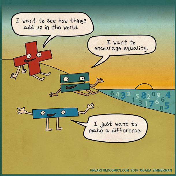 math cartoons and math comics about math puns and dreams