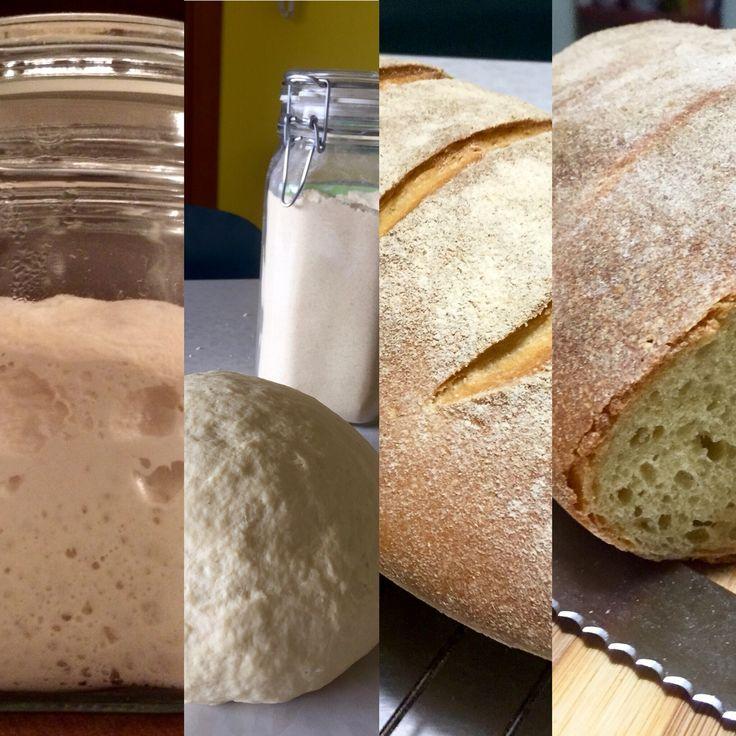 Altamura type sourdough bread with stone ground durum wheat flour.