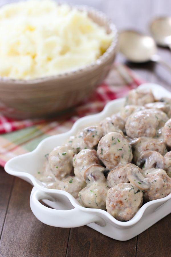 Stroganoff Meatballs | Olga's Flavor Factory