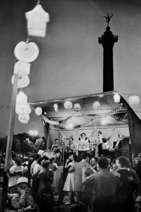 July 14, 1952 - 'Bastille Day' - Place de la Bastille, Paris by Henrie Cartier-Bresson.