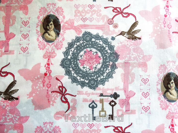 Lady Portrait - High quality poplin. You can use for quilting and other craft projects