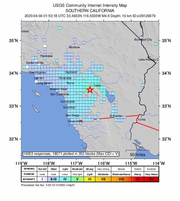 Riverside County Earthquake Chain Sits Down To San Diego In 2020 Riverside County San Diego California San
