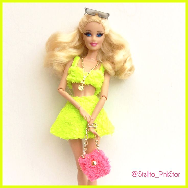 Barbie fluo pile collection. Handmade outsfits by PinKstar ...