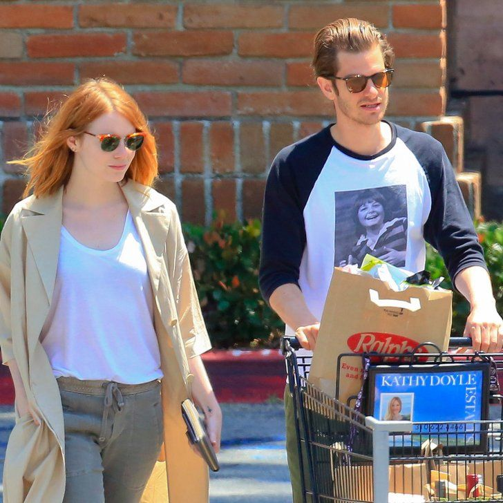 """Pin for Later: Emma Stone and Andrew Garfield Look Pretty """"Back Together"""" to Us!"""