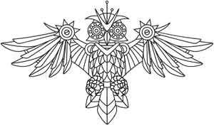 Clockwork Owl design (UTH4046) from UrbanThreads.com