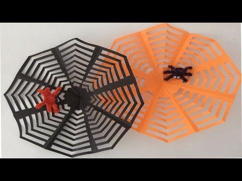 Decoración para Halloween/Día de los Muertos, Tela de Araña, Paper spiderweb, Halloween Decoration - YouTube