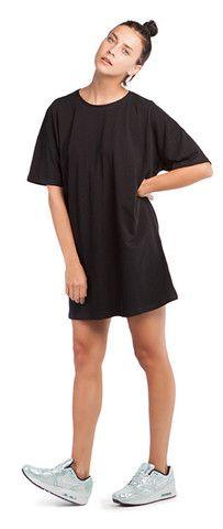 BLACK T-DRESS