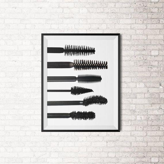 Mascara Brush Art Print by SpecsDesignCo on Etsy