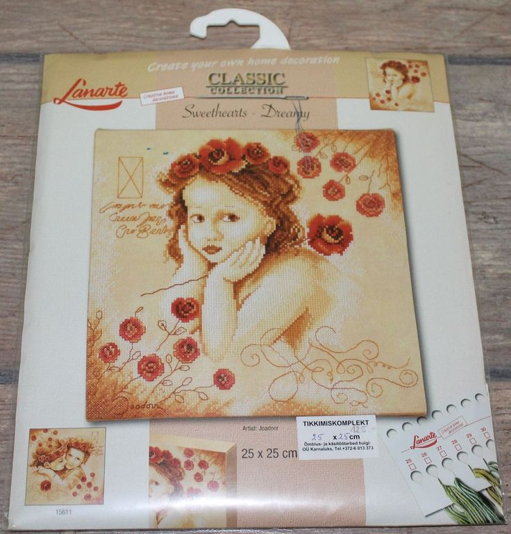 Counted Cross Stitch Kits #15612 NIP RARE. Sweethearts - Dreamy - Lanarte. This kit is RARE and difficult to find. Kit contains: cotton threads, needle, 27 count printed fabric . Kit is new and unopened. | eBay!