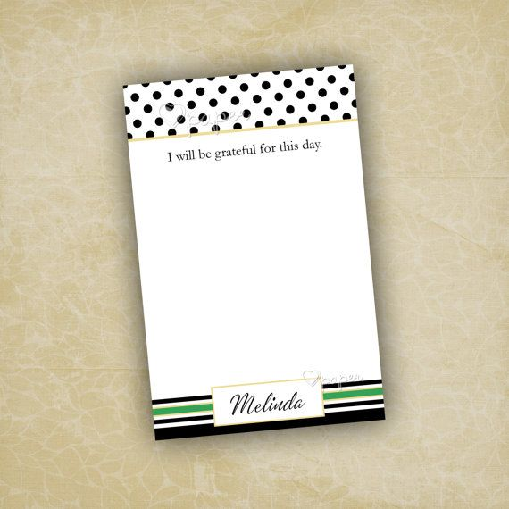 Grateful for Today Quote Notepad   Custom Printed To Do List Stationery  Paper   Birthday Baby