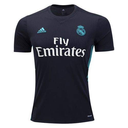 adidas Kids Real Mardid 17/18 Away Jersey Black