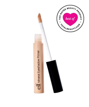 """Best Eye Primer No. 9: ELF Mineral Eyeshadow Primer, $3 TotalBeauty.com average member rating: 8.9* Why it's great: One reviewer was """"shocked"""" that this affordable primer is the best one she has ever used. You only need a """"small amount and ... [your] eye shadow stays on all day."""" Reviewers say that it """"leaves eyelids dry, and makeup does not slide off."""" Not only does it give shadows excellent staying power, it also """"makes the colors more vibrant."""""""
