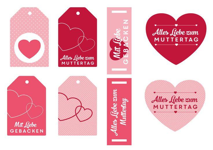 Geschenkanhänger zum Ausdrucken - Muttertag ✰ miomodo Blog: DIY, Basteln, Verpacken & Verschenken ✰ Jetzt kostenlos Vorlage downloaden und selber drucken!