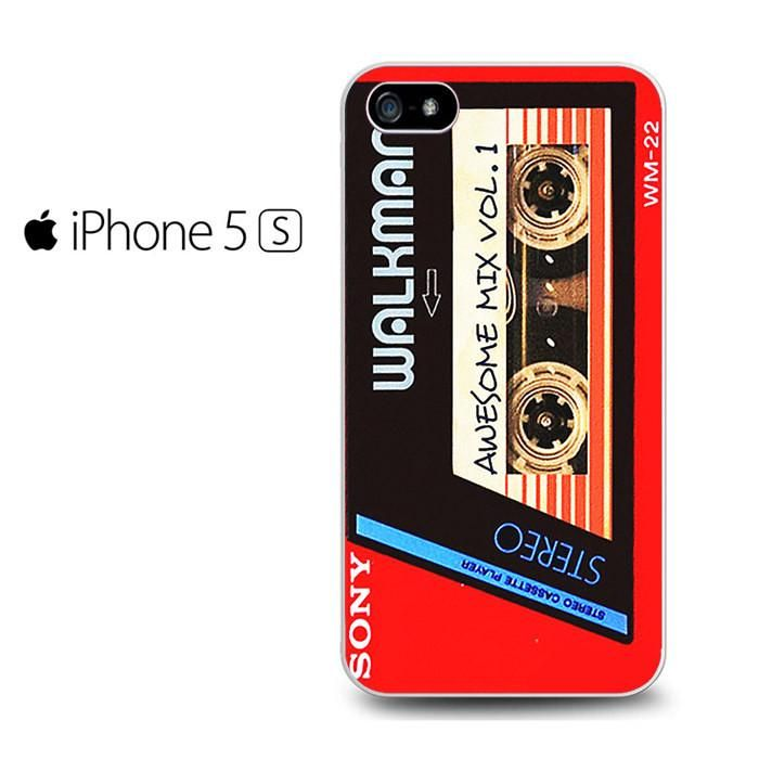 Walkman Awesome Mix Vol 1 Red Tape Iphone 5 Iphone 5S Iphone SE Case