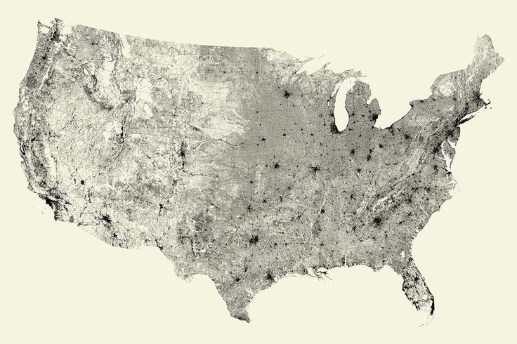 Amazingly detailed map shows every street in America $30