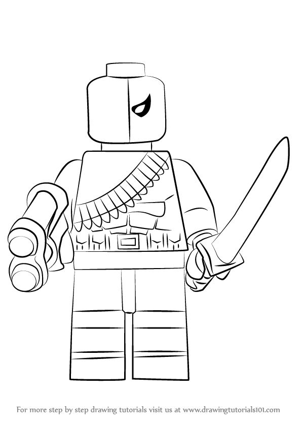 Learn How to Draw Lego Deathstroke (Lego) Step by Step