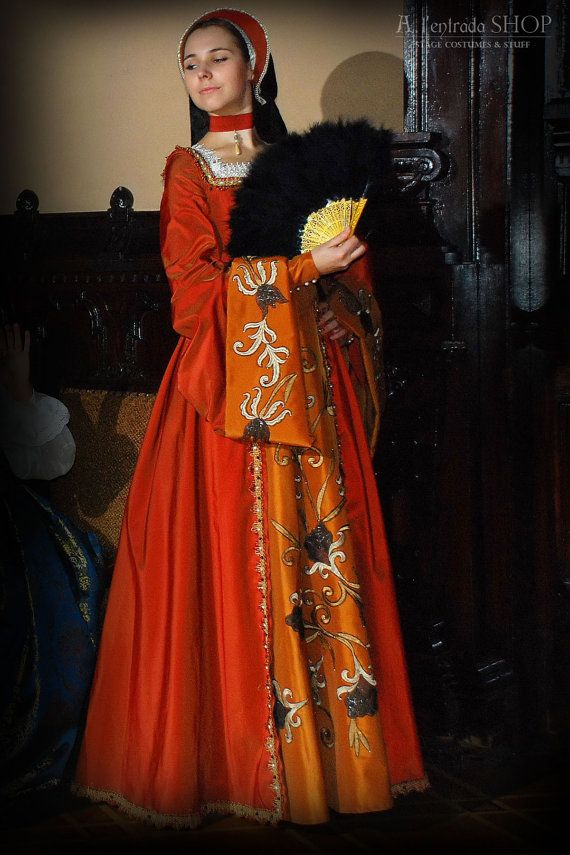 Renaissance dress Anna Boleyn style. Early 16th century English court dress  !ONLY TO ORDER!