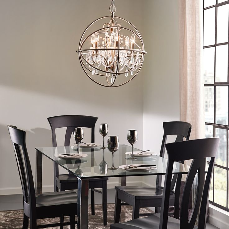 Shop Kichler Lighting 6-Light Brushed Nickel Chandelier at Lowes.com