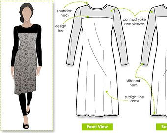 Alisha Dress Print Shop Sewing Pattern not tiled by StyleArc