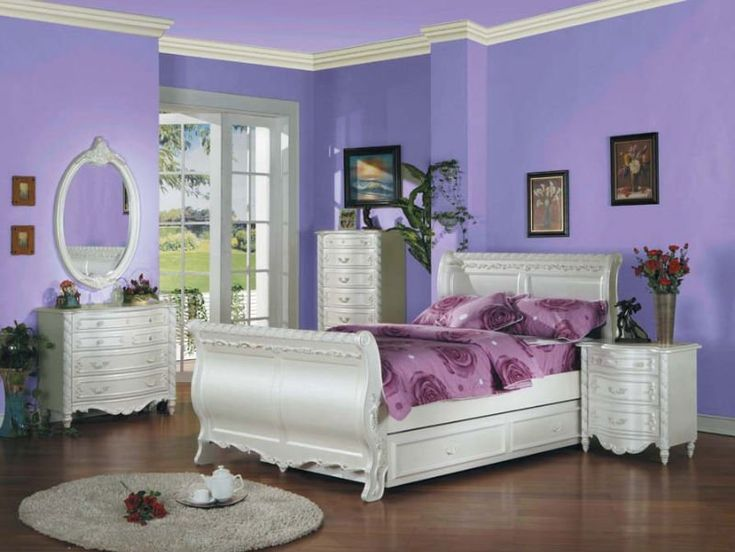 Acme 1010Tset Pearl White Girl Youth Kid Teen Twin Sleigh Bedroom Furniture  Sets