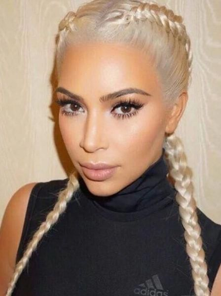 The Kardashian boxer braids keeps everything neatl…