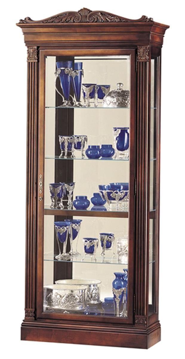 Display Case W/ Halogen Lighting, Adjustable Shelves