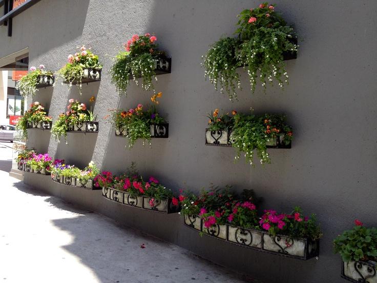 City block floral landscape feature