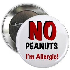 Peanut Allergy Button, not super subtle, but you could carry it off....