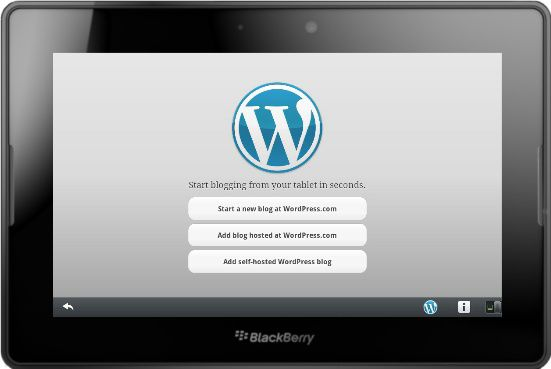 Wordpress now available for the Blackberry PlayBook...yippeah!