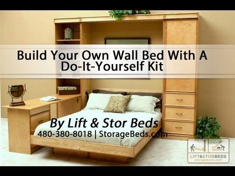 Build Your Own Wall Bed With A Do-It-Yourself Kit from Lift & Stor Beds - YouTube