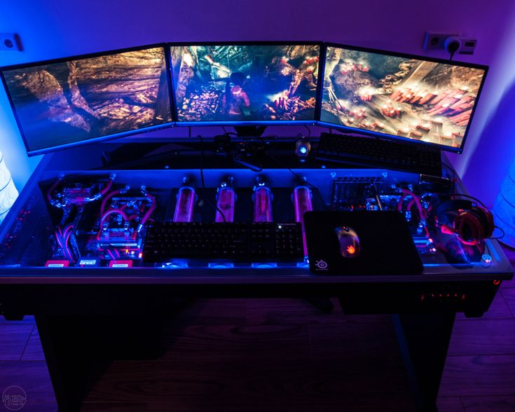 Similar to this, but alot less in yo' face. Less LEDs. Smaller set up. Less depth.