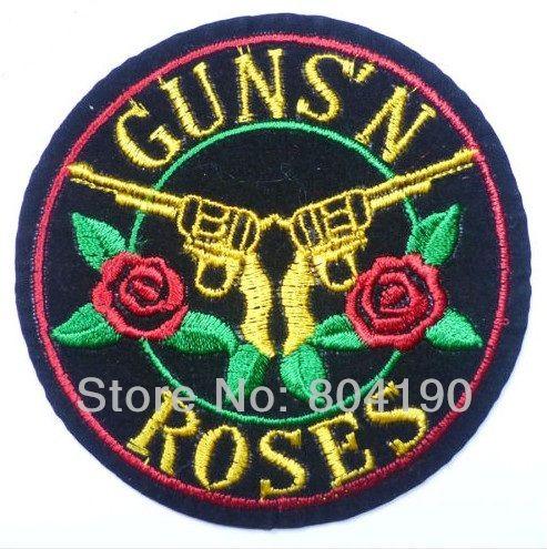Barato Guns N Roses GnR LOGO Music Band Bordado Ferro No Remendo Emo Goth Punk Rockabilly remendo Personalizado disponível, Compro Qualidade Apliques diretamente de fornecedores da China:  TAMANHO: 7.5 cm   instruções Para O Ferro Em:coloque o patch em qualquer lugar de p