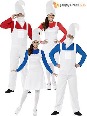 Adult #garden gnome #dwarf costume smurf men ladies #couples fancy dress retro,  View more on the LINK: http://www.zeppy.io/product/gb/2/181983241131/