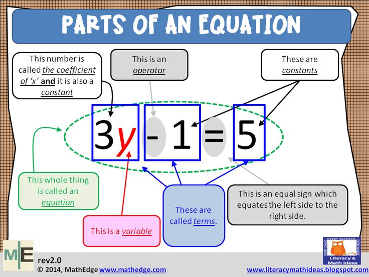 Can Your Students Identify all the Parts of an Equation?   MathEdge